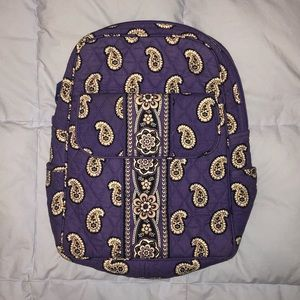 Small Purple Vera Bradley Backpack (Like New)